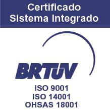 Certificado Sistema Integrado BRTUV ISO9001 ISO 14001 OHSAS 18001