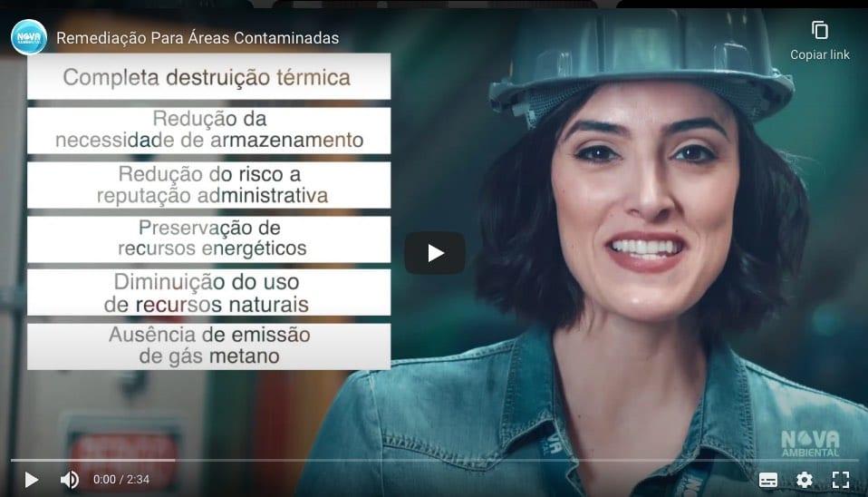 Vídeo sobre Coprocessamento de Resíduos e Solos Contaminados